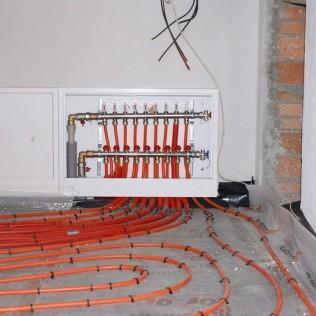 Instalacja rurowa do cieplej podłogi